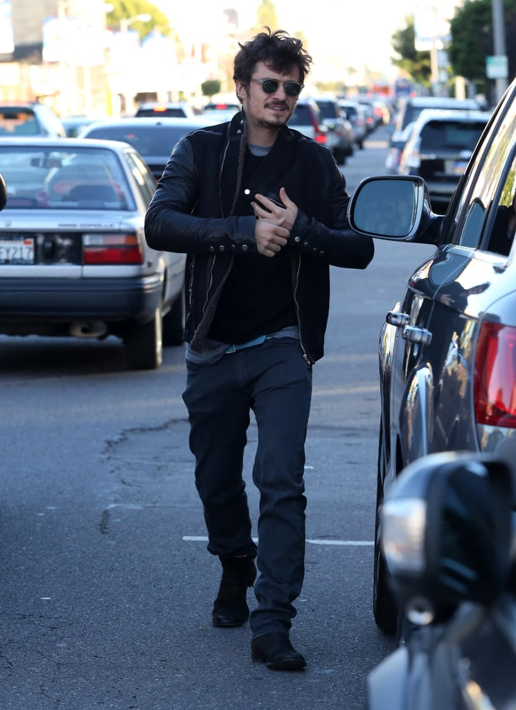 Orlando Bloom made his way back to his car.