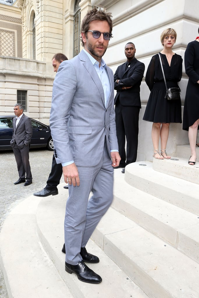 Bradley Cooper walked up the steps to the Bulgari event.