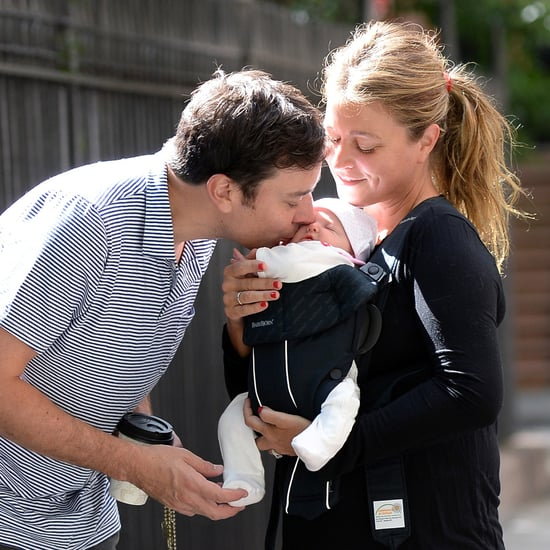 Jimmy Fallon Kissing Daughter Winnie | Pictures