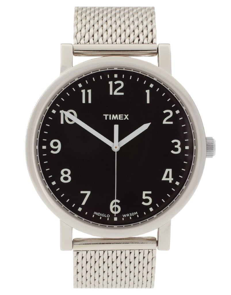 We love this crisp, clean watch for Dad's everyday look.  Timex Originals T2N587 Watch ($87)