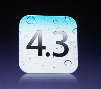 It's Coming Stocked With iOS 4.3