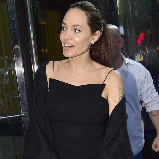 Angelina Jolie Black Dress in New York City June 2016
