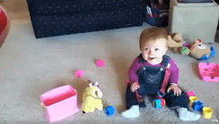 Video of Baby Laughing When Dog Eats Bubbles