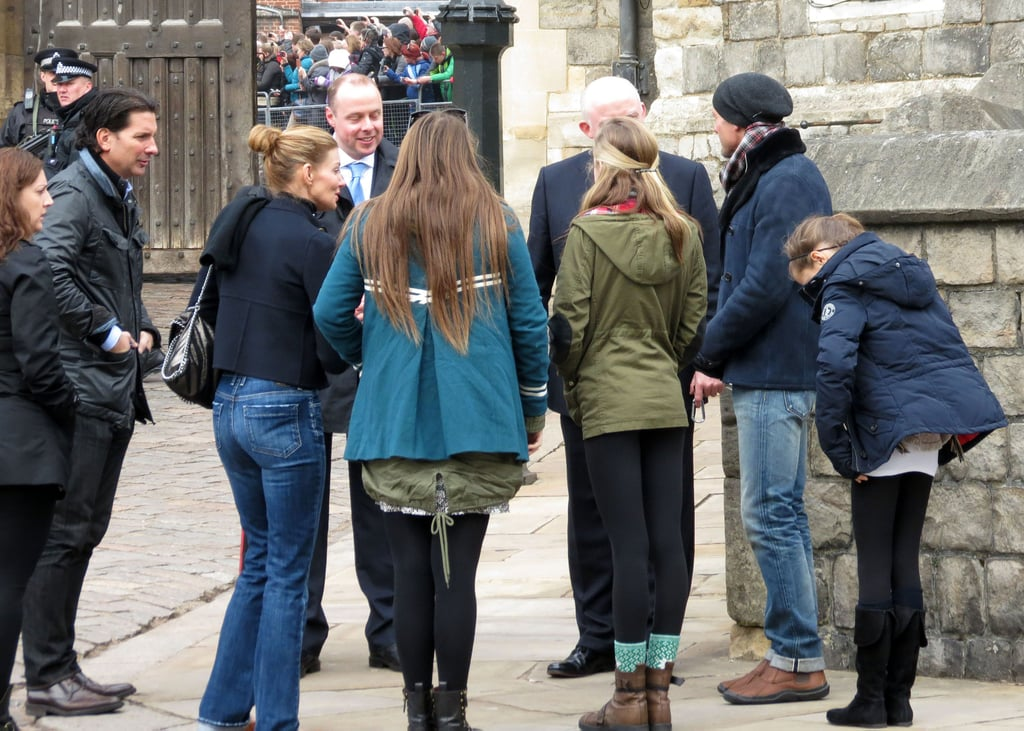 Tim and Faith Visit Windsor Castle With Their Girls
