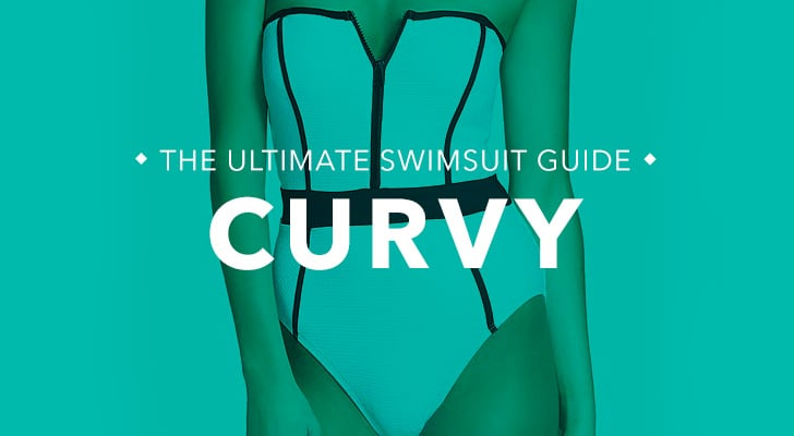 Curvy: You're curvy throughout with a full bust, hips, thighs, and butt like Christina Hendricks, Scarlett Johansson, and Kim Kardashian. What to look for: For curvy frames, the key is to highlight your curves while providing enough support and coverage. If you're not keen on exaggerating your curves, then steer clear of monokinis or string bikinis with thicker ties, which can accentuate your widest areas. Tips and tricks from fit and style experts for Everything but Water:  Asymmetrical suits draw the eye toward the neckline, highlighting the beautiful line from a woman's neck to her collarbone. Colorblocking can help highlight your shape, as do retro suits (think high waists and boxy halter tops).