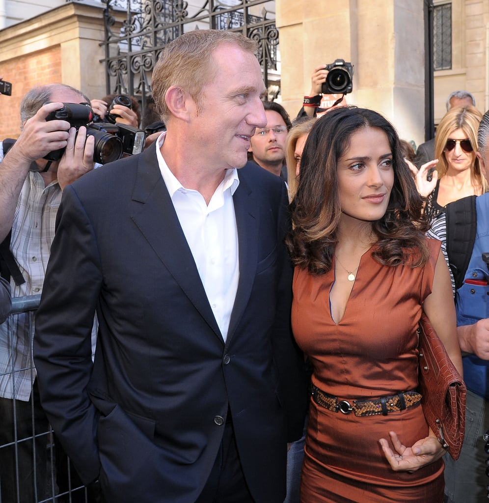 Salma Hayek had Francois-Henri Pinault by her side for Balenciaga.