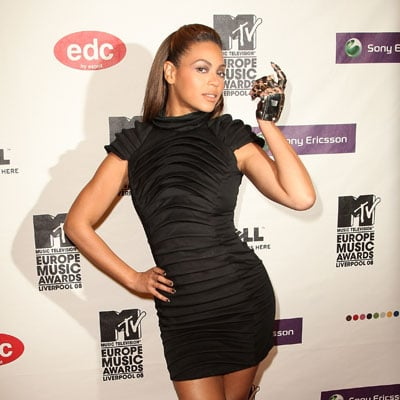 Beyonce Knowles at the 2008 MTV Europe Music Awards