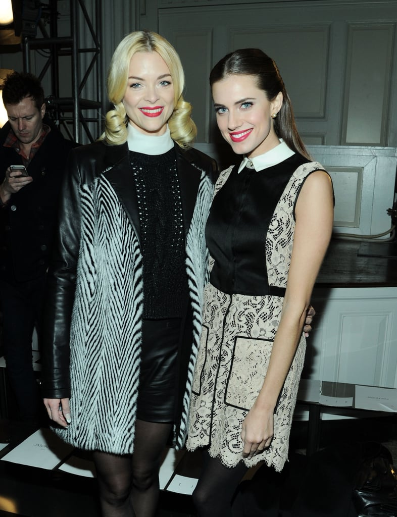 Jaime King and Allison Williams paired up in the front row at Jason Wu during New York Fashion Week in February.