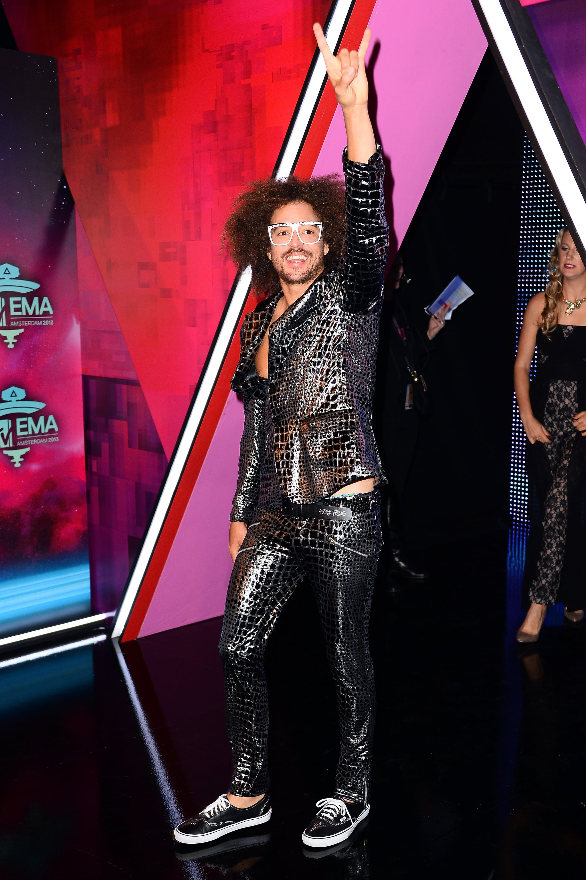Redfoo arrived to host the MTV EMAs.