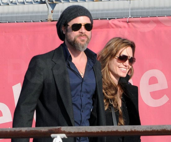 Slide Photo of Brad Pitt and Angelina Jolie in Venice