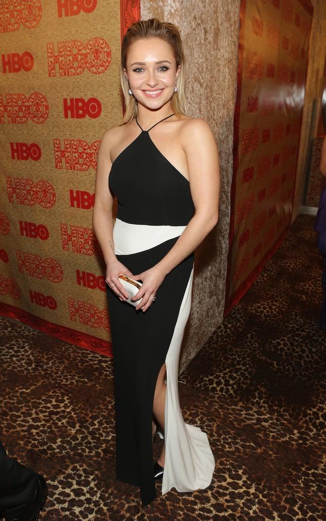 Hayden Panettiere didn't make a dress change.