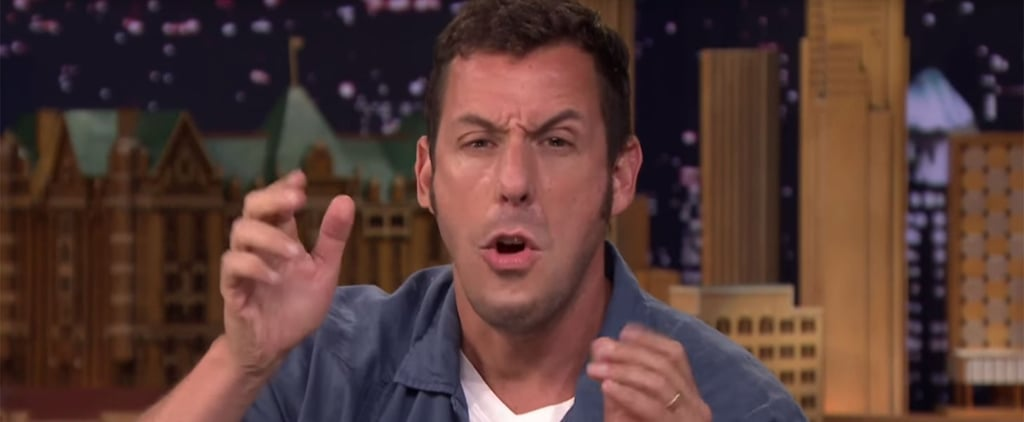 Adam Sandler Wins at Life While Playing Lip Flip With Jimmy Fallon