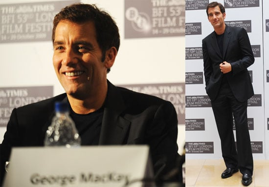Photos of Clive Owen in London at the London Film Festival Premiere of The Boys Are Back