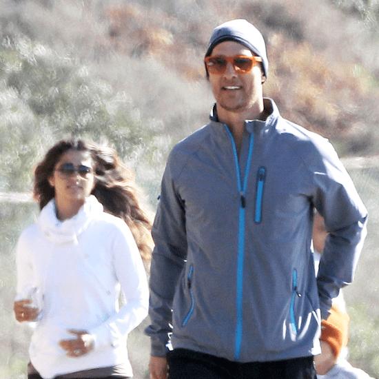 Matthew McConaughey and Camila Alves on a Family Jog