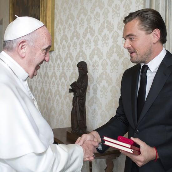 Leonardo DiCaprio Meets Pope Francis January 2016
