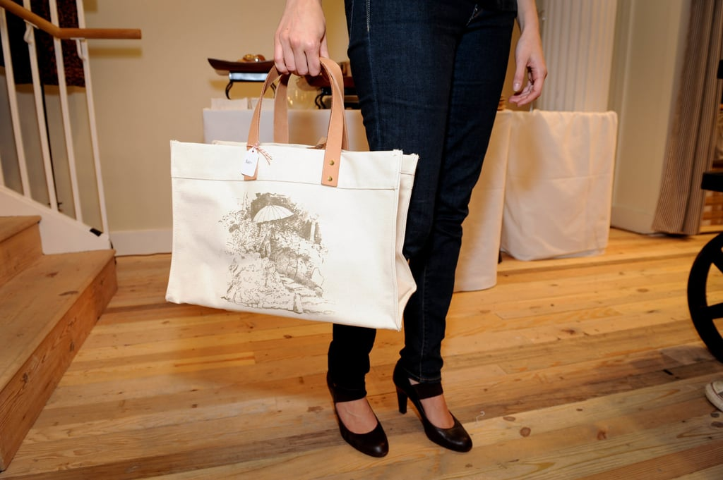 This Madewell limited-edition tote bag, designed by Ellen Harvey, was sold to benefit the Whitney Museum of American Art.