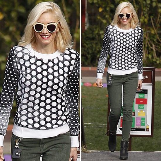 Gwen Stefani Wearing Polka Dot Sweater
