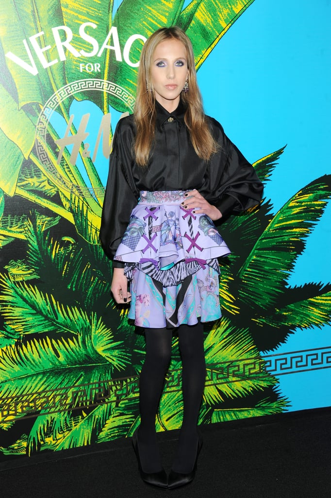 Allegra Versace at the Versace for H&M presentation.