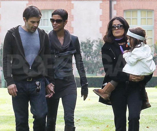 Picture Slide of Halle Berry and Olivier Martinez Holding Hands at Salma Hayek's French Home With Valentina