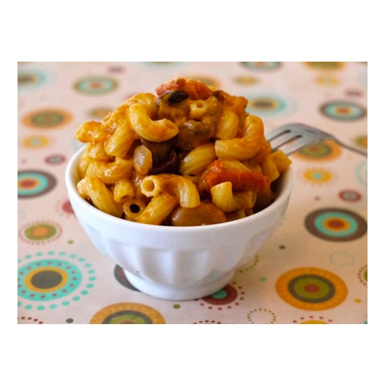 Four Bean Chili Mac and Cheese