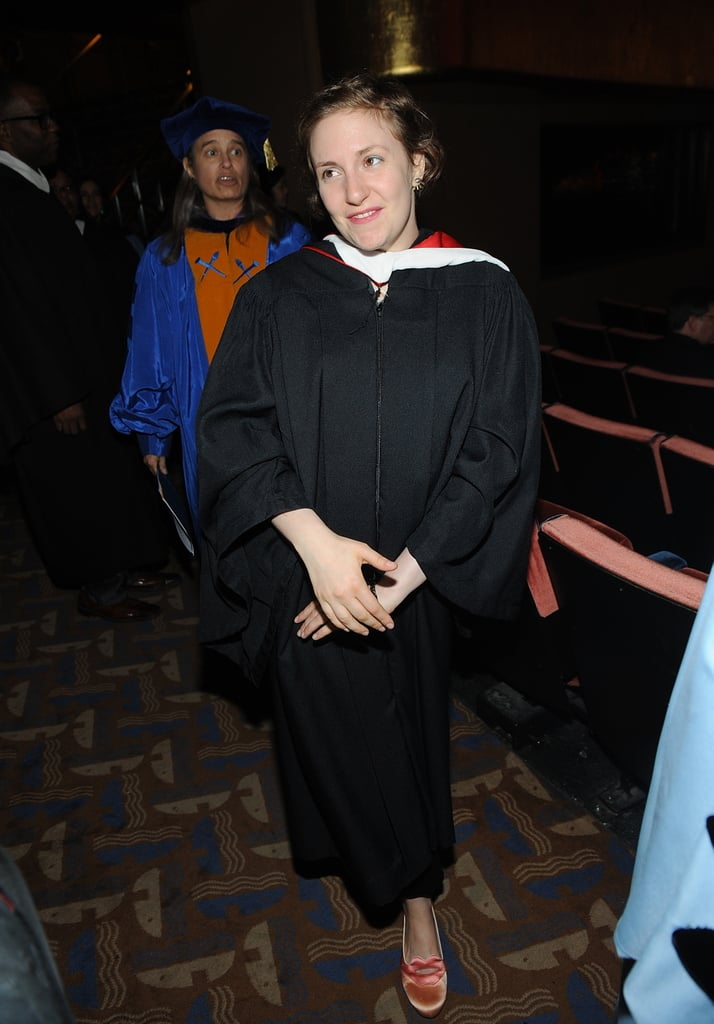 Lena Dunham attended the 2013 Barnard College commencement.