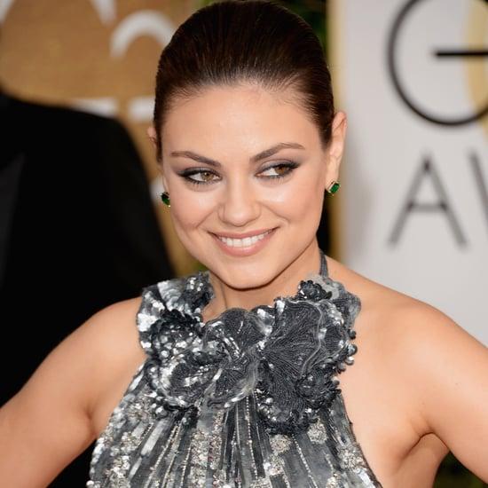 Mila Kunis Dress on Golden Globes 2014 Red Carpet