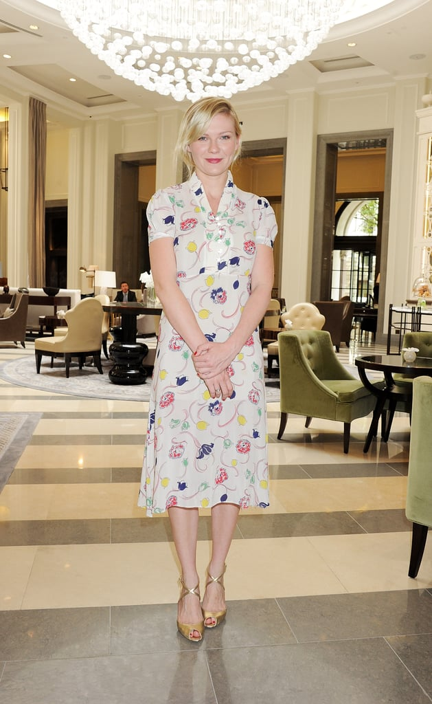 Kirsten wore a sweet floral frock with ankle-strap sandals in 2011.