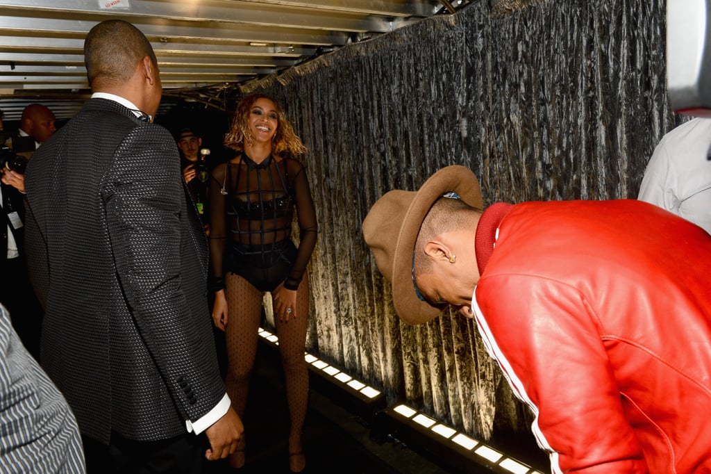 First, Pharrell bowed down to Queen Bey.