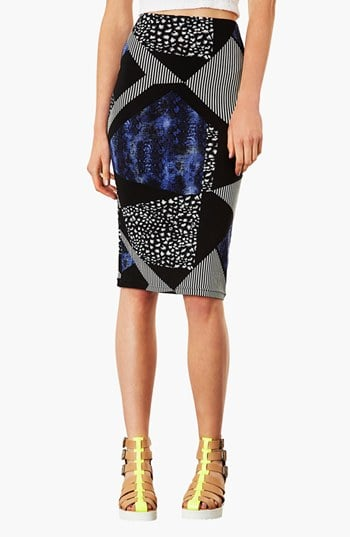 When you have a piece like this Topshop mixed-print tube skirt ($45), it's doesn't take much to pull together the rest of the outfit.
