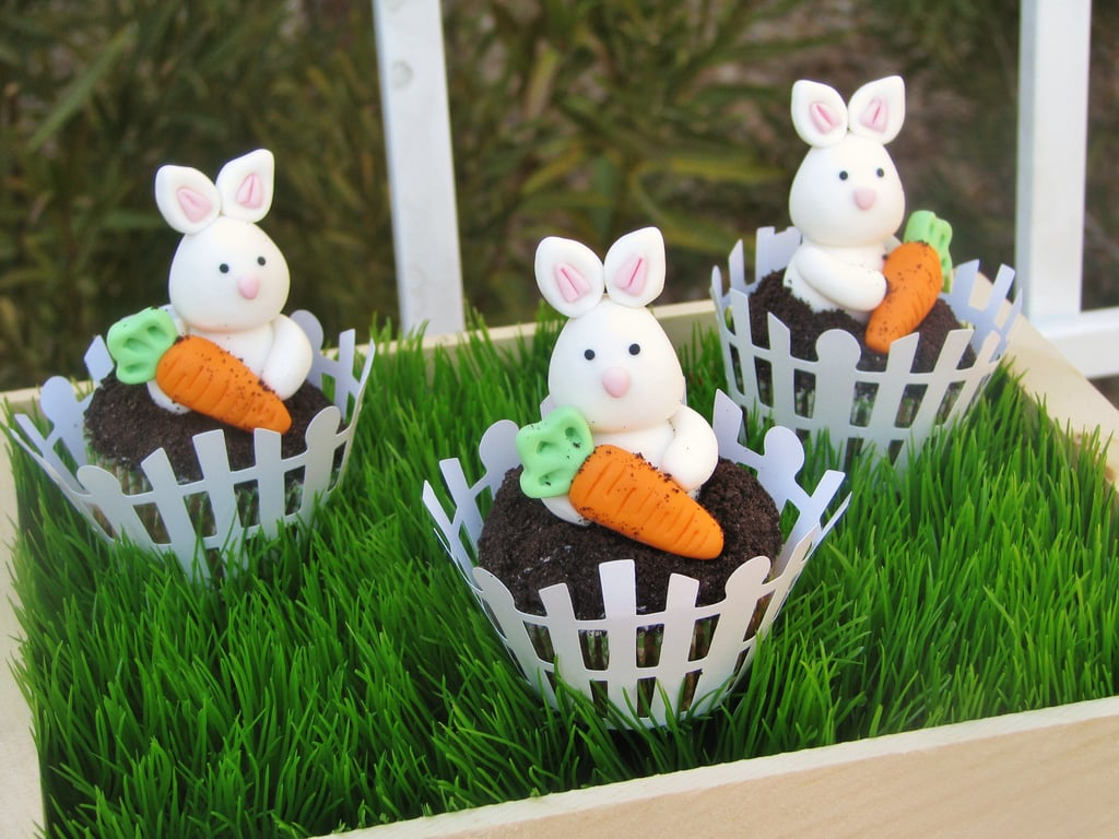 Bunny and Carrot Cupcakes