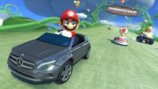 Mario Kart Returns With New Tracks, New Weapons, and a Sparkling Mercedes