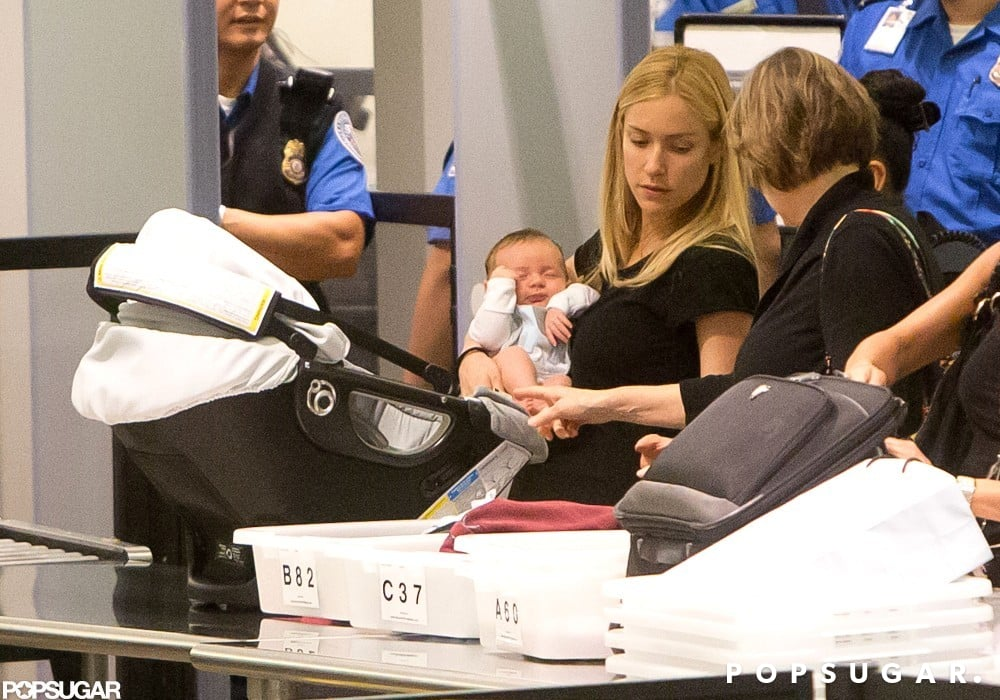 Kristin Cavallari made her way through LAX with Camden Cutler.