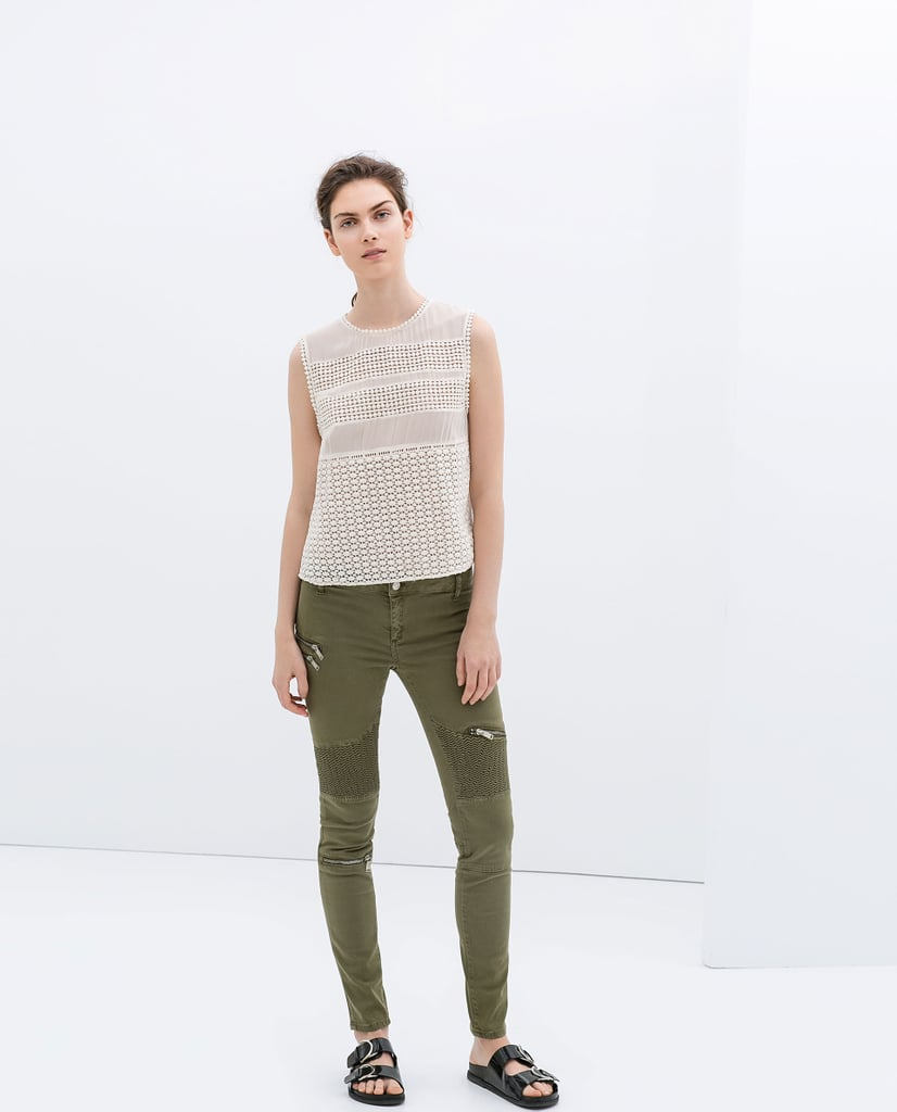 Skinny Biker Trousers ($80)