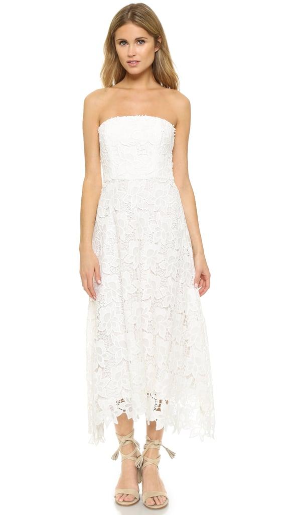 BB Dakota Eleanor Strapless Lace Midi Dress ($114)