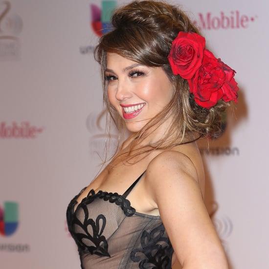 Thalia's Makeup at Premio Lo Nuestro 2016