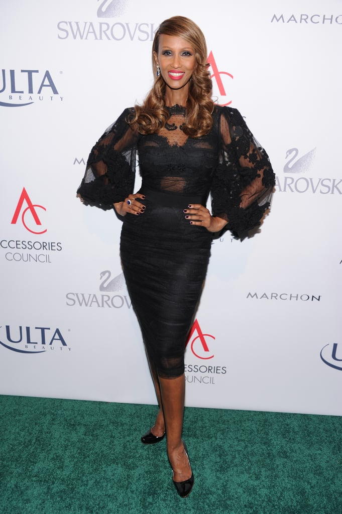 Iman showcased her hall of fame style at the ACE Awards.