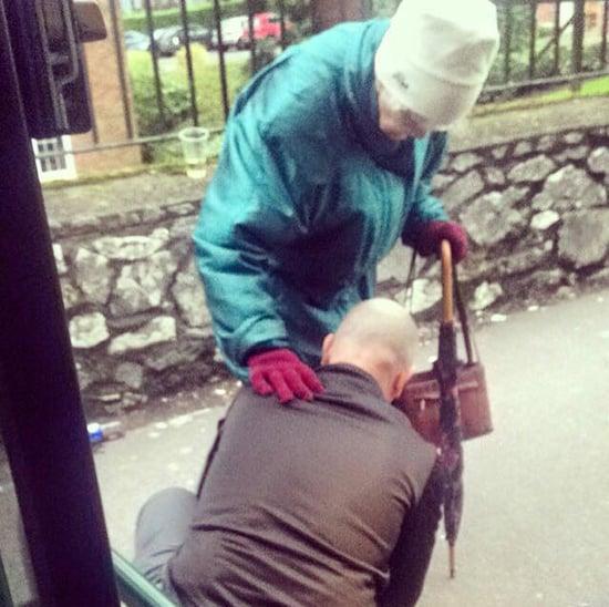 Bus Driver Helps Elderly Woman