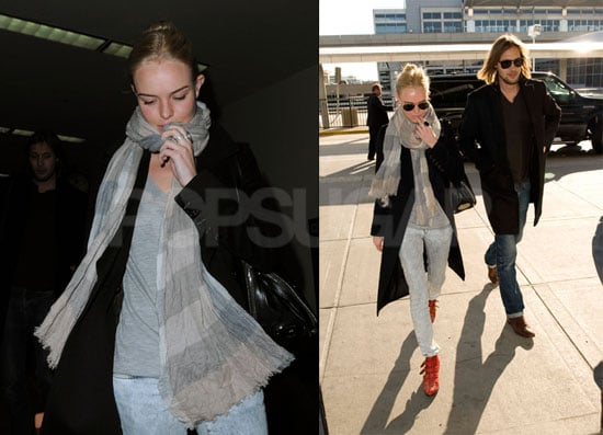 Photos of Kate Bosworth and James Rousseau at JFK and LAX Airport