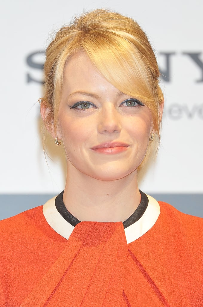 Emma Stone looked radiant at the press conference for The Amazing Spider-Man in Japan.