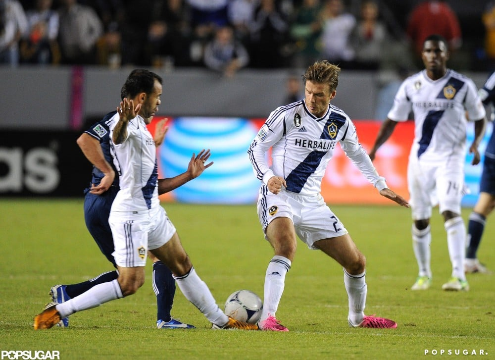 David Beckham played in LA with the Galaxy.