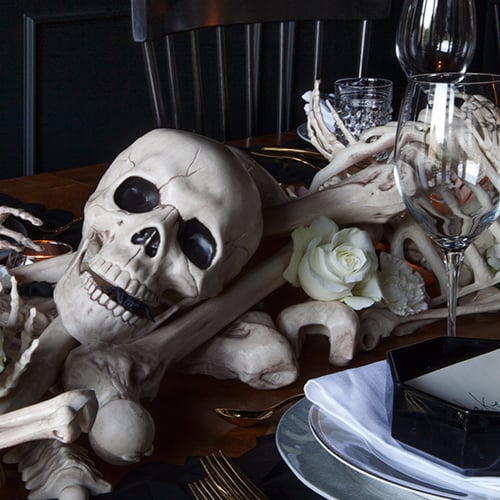 DIY Halloween Bone Table Runner