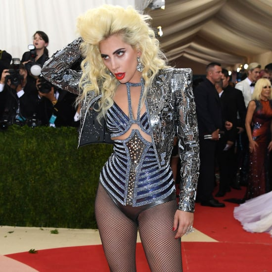 Lady Gaga Wearing Versace at Met Gala 2016
