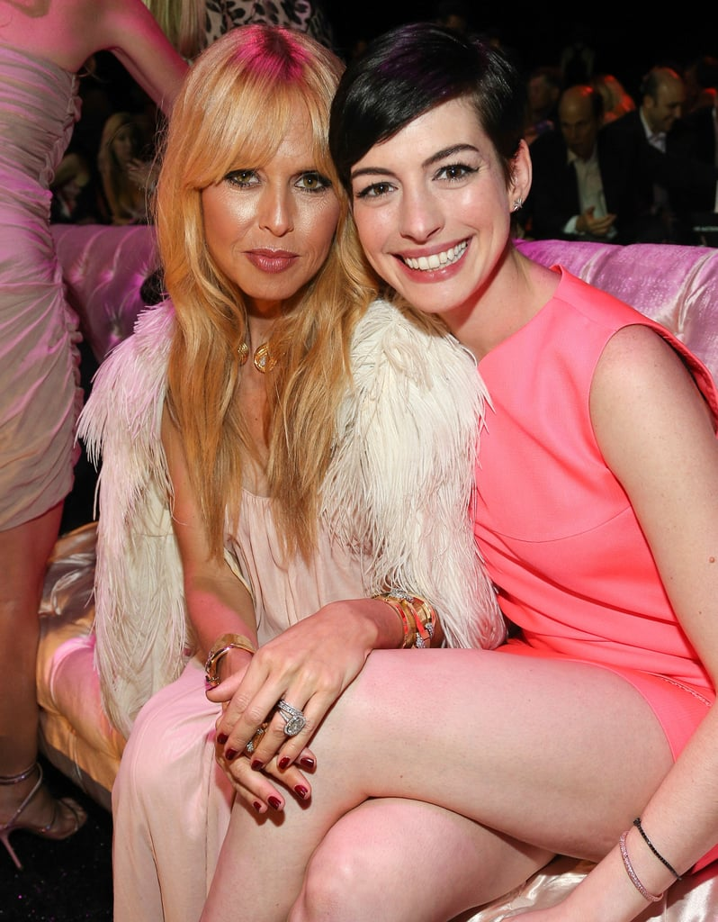 Anne Hathaway and Rachel Zoe posed together at the party.