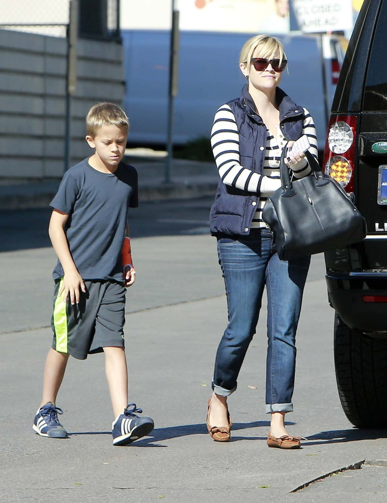 Reese Witherspoon and Deacon grabbed lunch in LA.