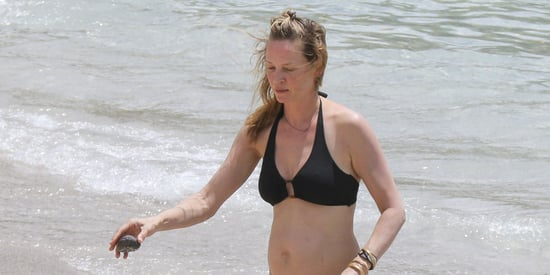 Uma Thurman Hits The Beach In A Bikini