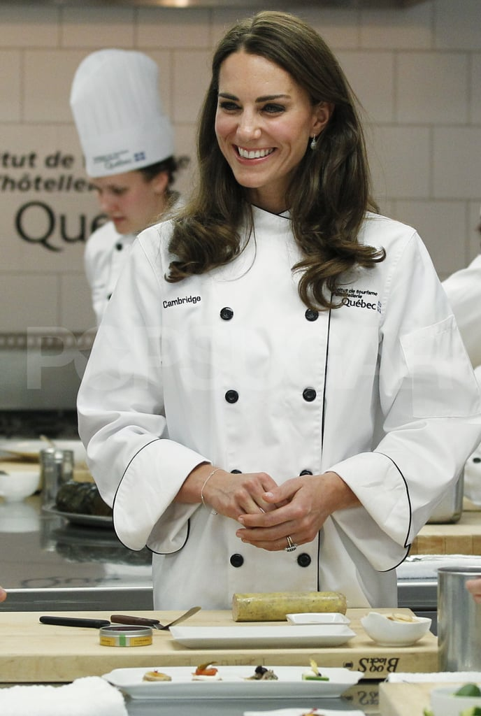 Kate Middleton looked chic, even wearing a chef coat!