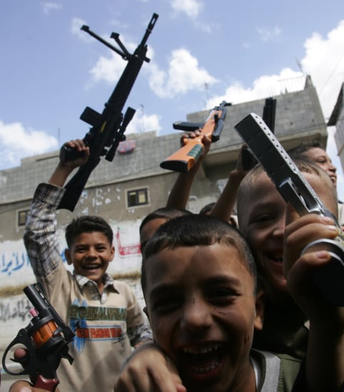 Kids in Gaza Mark the End of Ramadan With a Bang