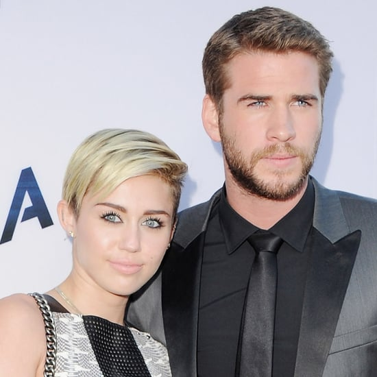 Miley Cyrus and Liam Hemsworth at Paranoia Premiere