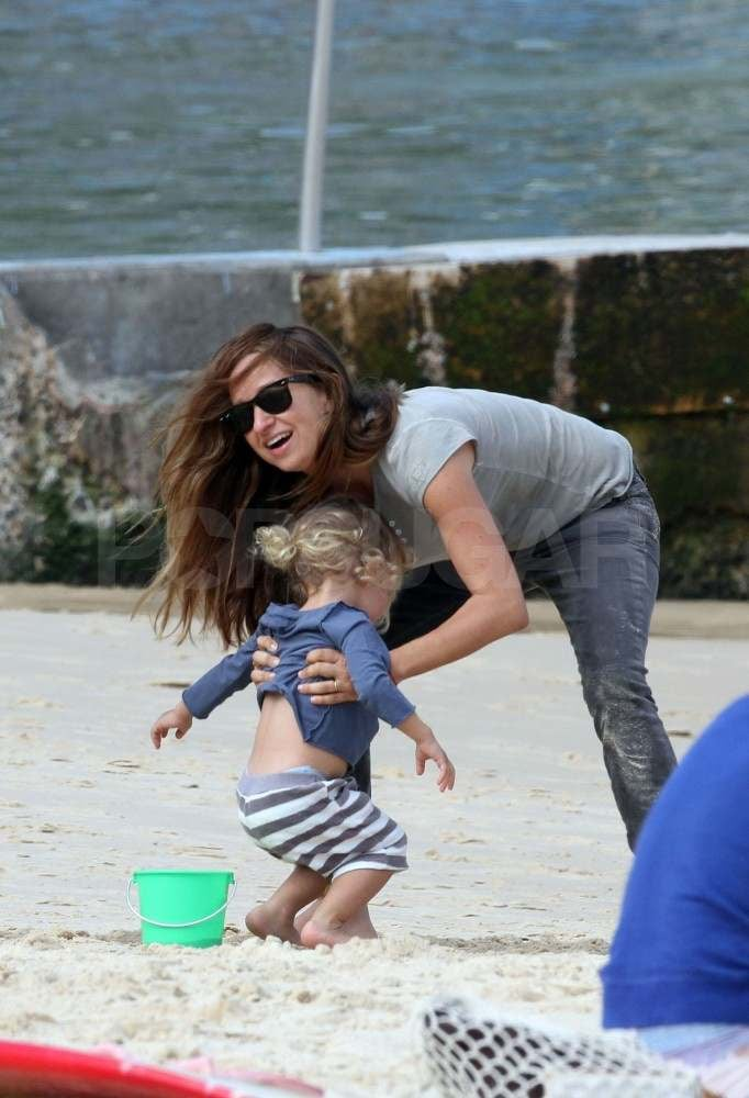 Jennifer Meyer in Sydney with her family.