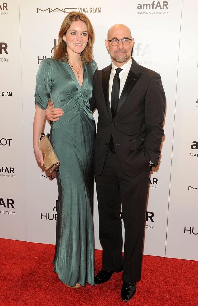 Stanley Tucci and Felicity Blunt posed at the 2012 amfAR gala in NYC.